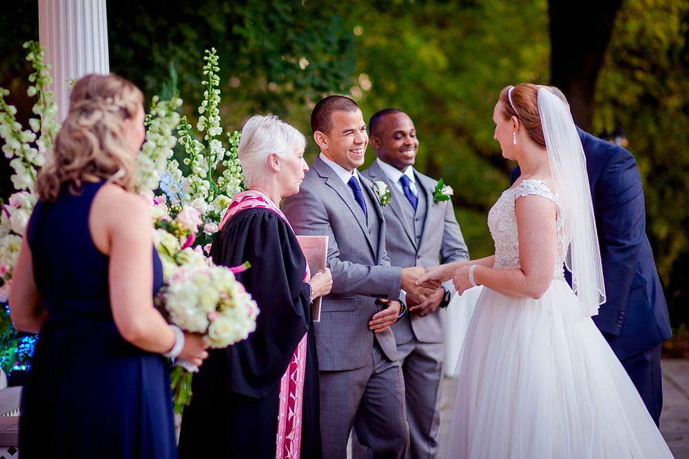 Ceresville Mansion Pergola Wedding Ceremony Frederick Maryland