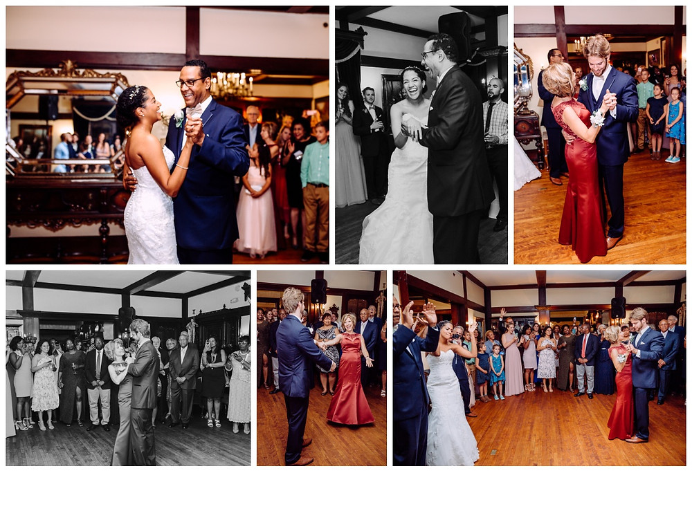 Father daughter and mother-son dances captured by Katherine Elizabeth Photography