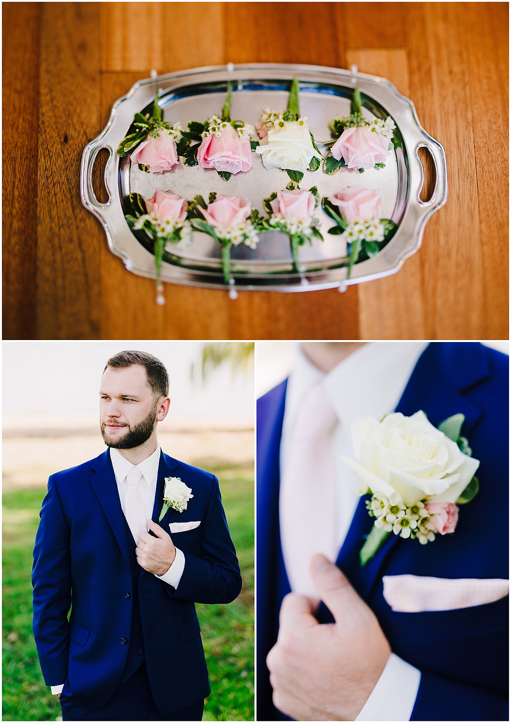 Groom details and florals Bohemia Overlook
