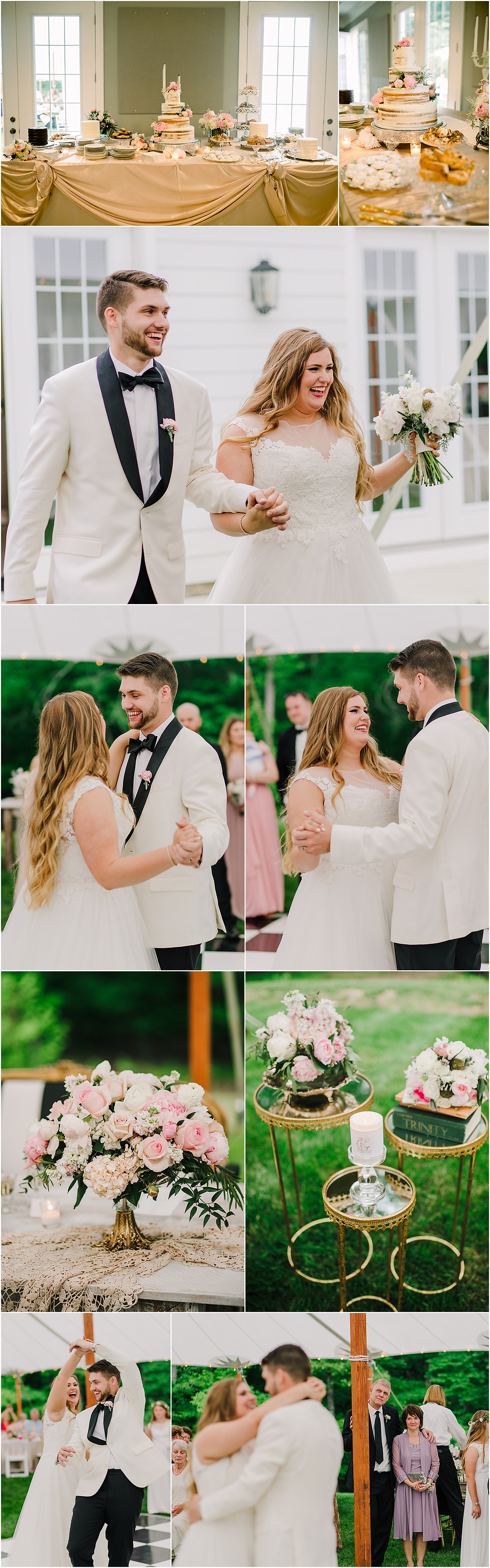 Reception Details and First Dance Memorial Day Wedding in Annapolis, Maryland