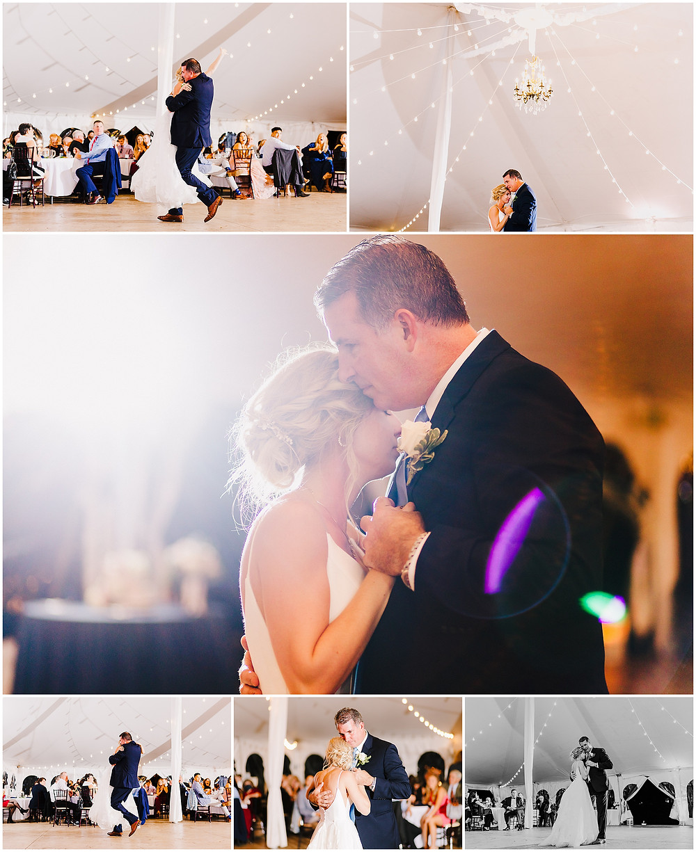 Sweetest Father Daughter Dance at Bohemia Overlook Wedding Baltimore Wedding Photographer