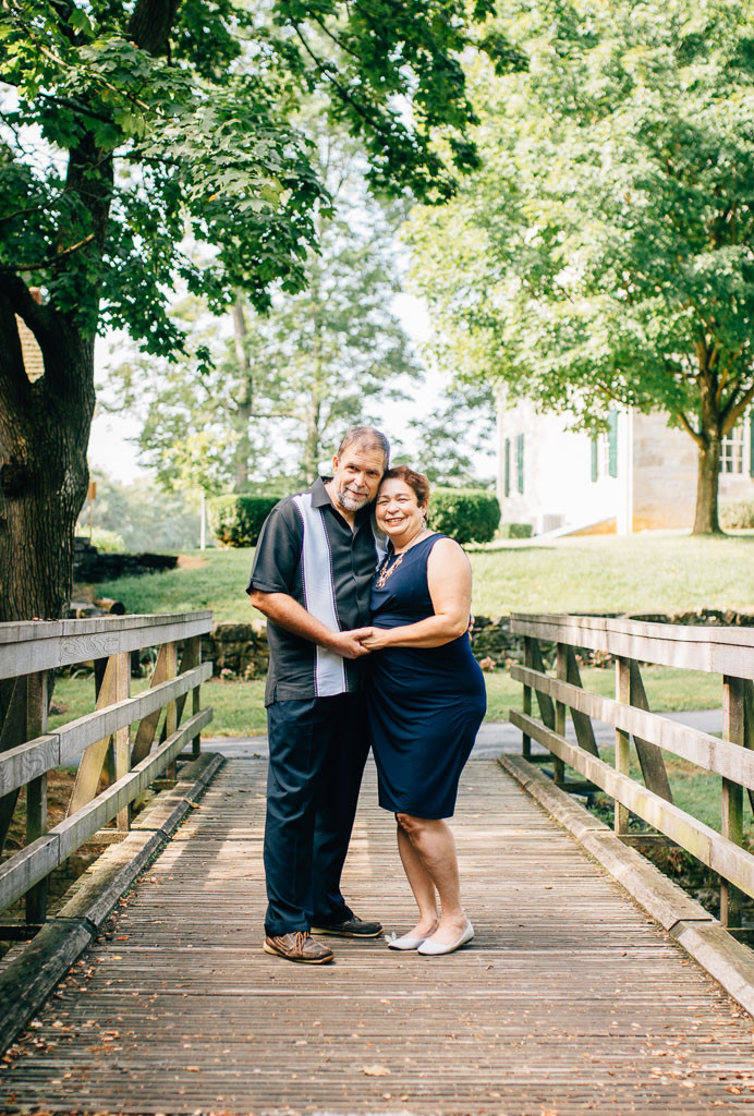 Renfrew Park - Green and Navy Summer couple's portrait - Smithsburg Photographer
