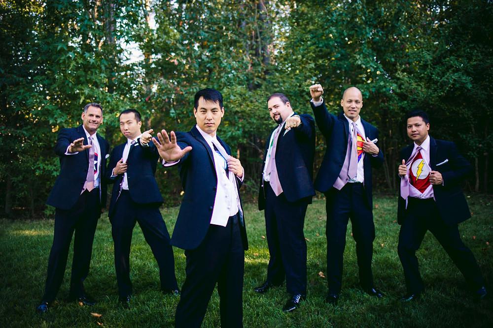 Groomsmen or superheroes Baltimore wedding