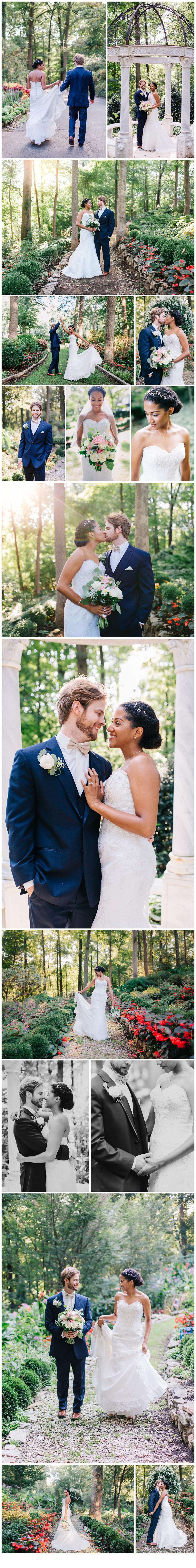 Garden sunset bridal portraits at Gramercy Mansion, Maryland Wedding Photography by Katherine Elizabeth Photography