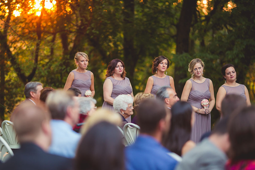 Bridal Party Overhills Mansion Ceremony
