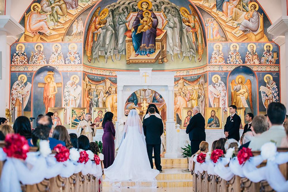 traditional greek orthodox church wedding