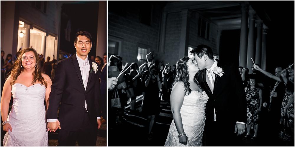 Bride and Groom Send Off Overhills Mansion Reception Maryland Wedding Photographer