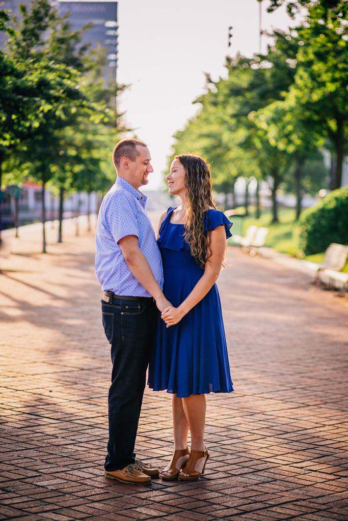 Inner Harbor engagement portraits - Baltimore Maryland - Katherine Elizabeth Photography