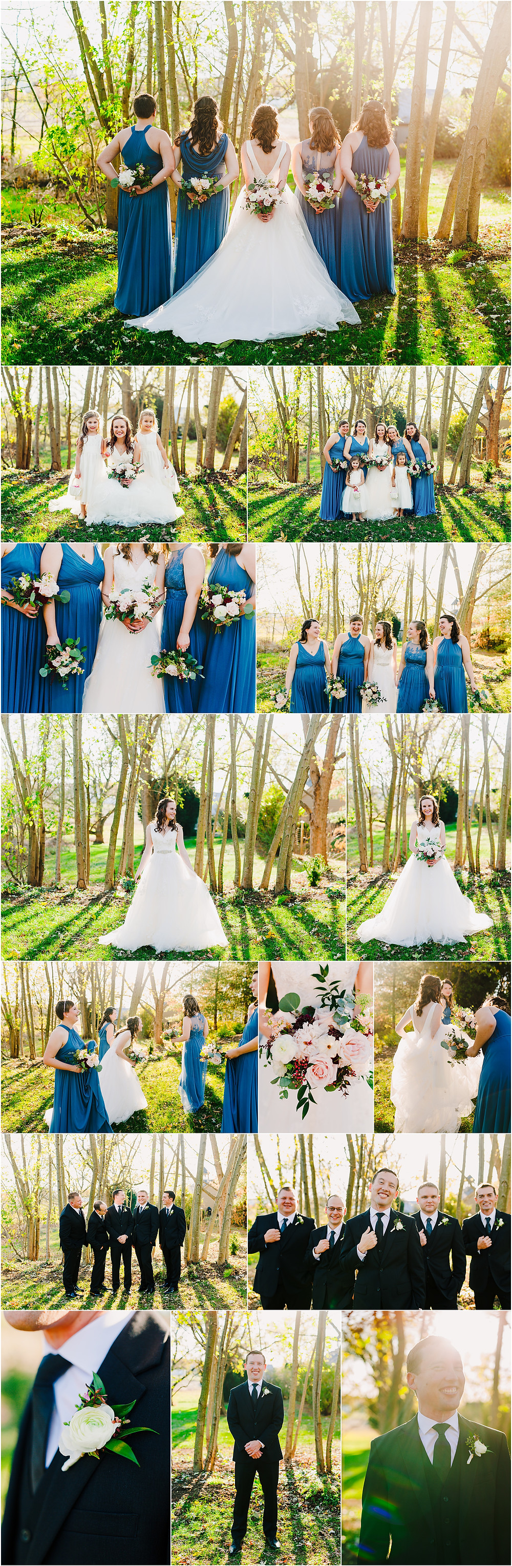 Tannery Barn Wedding Party Portraits Baltimore Wedding photography
