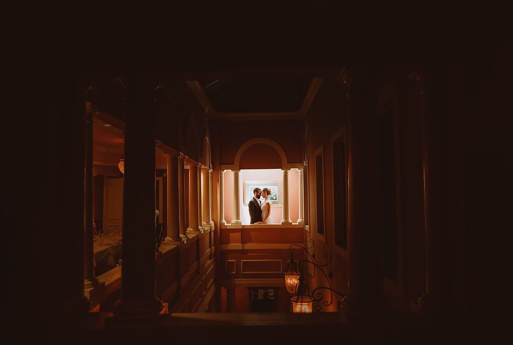 Bridal Portrait at Aldo's Little Italy. Baltimore Wedding Photography