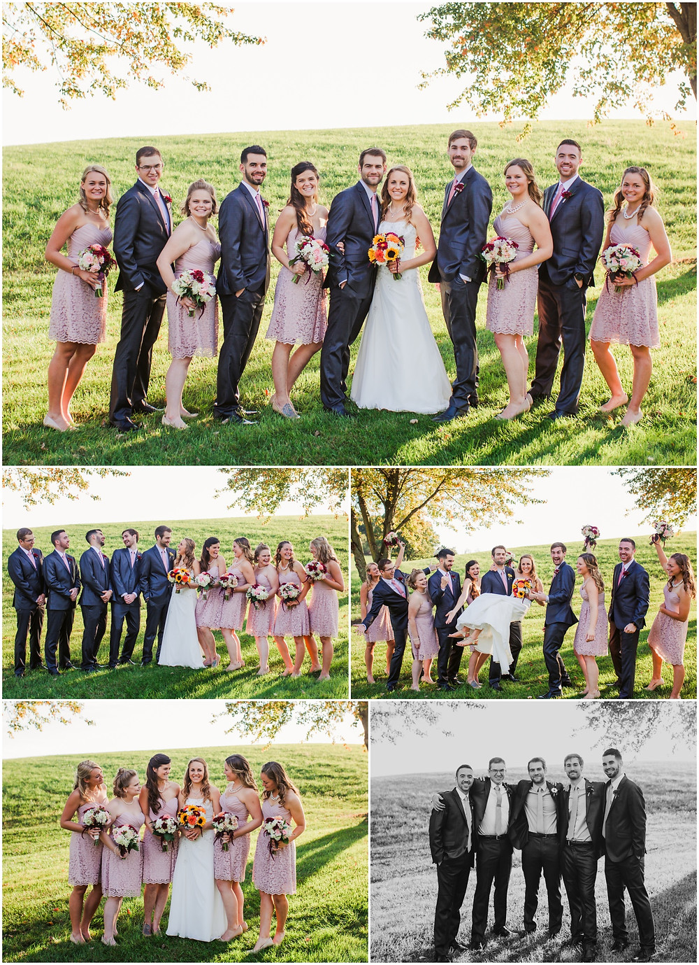 Bridal Party Portraits at Morningside Inn Frederick Wedding Photography