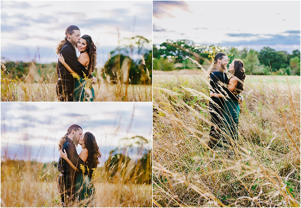 Portraits in a field at Kinder Farm Park Annapolis Wedding Photographer