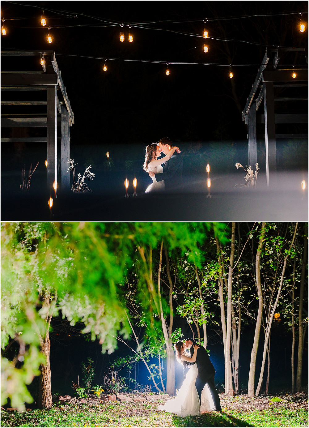 Night portraits at the tannery barn. Baltimore wedding photographer