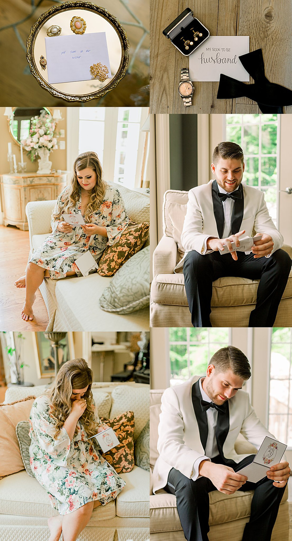 Exchanging special notes before you say I Do. Maryland Wedding Photographer