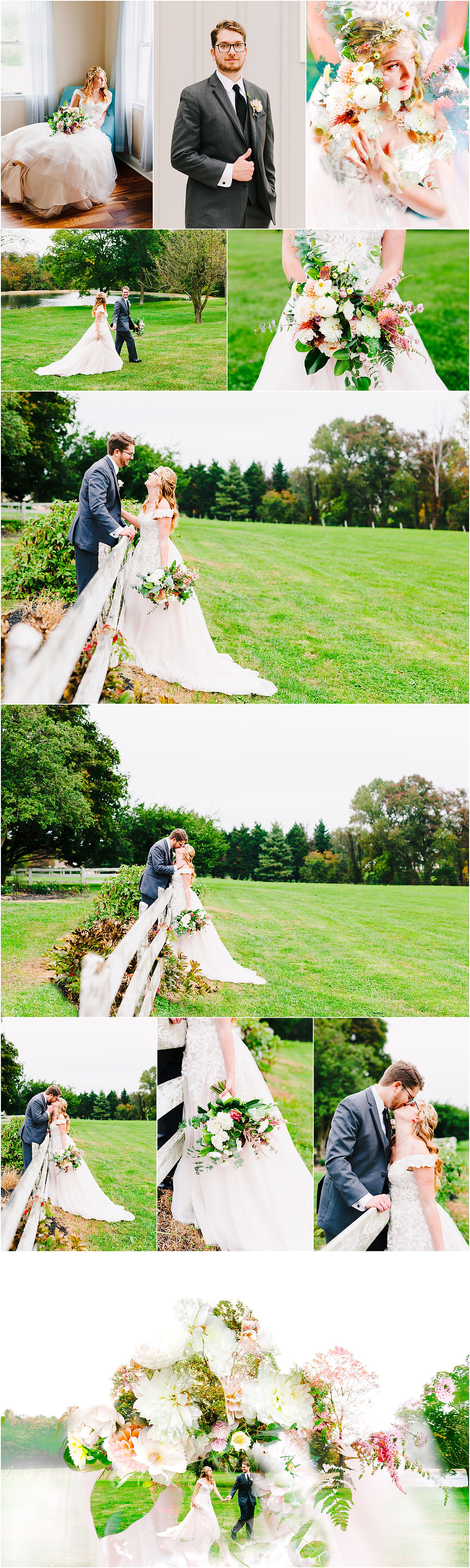 Romantic Portraits at Rosewood Farms by Maryland Wedding Photographer