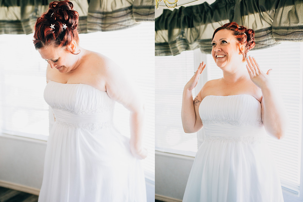 Bride getting ready - Maryland Wedding Photographer - Katherine Elizabeth Photography