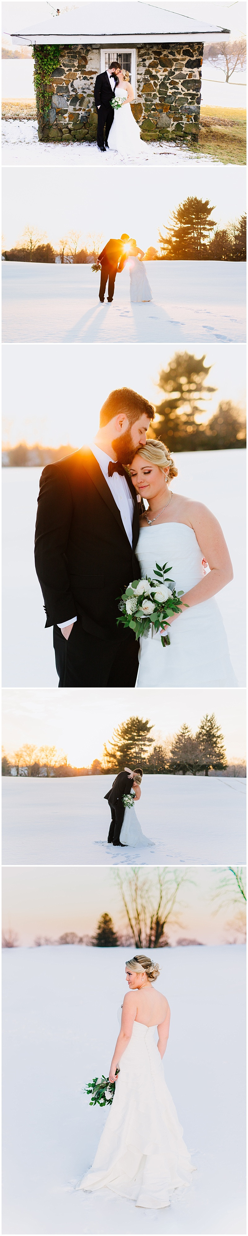 Sunset Winter Wedding Inspiration