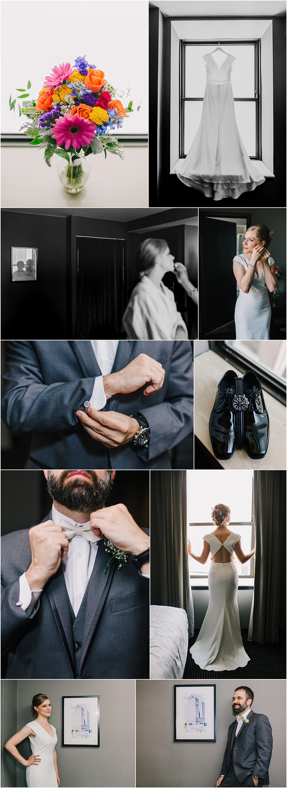 Wedding Day Prep at Lord Baltimore Hotel - Baltimore Wedding Photography