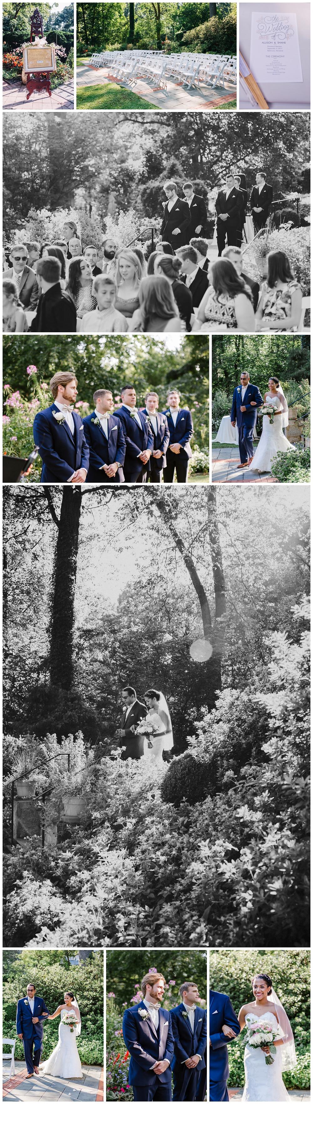 Garden wedding at Maryland wedding venue Gramercy Mansion