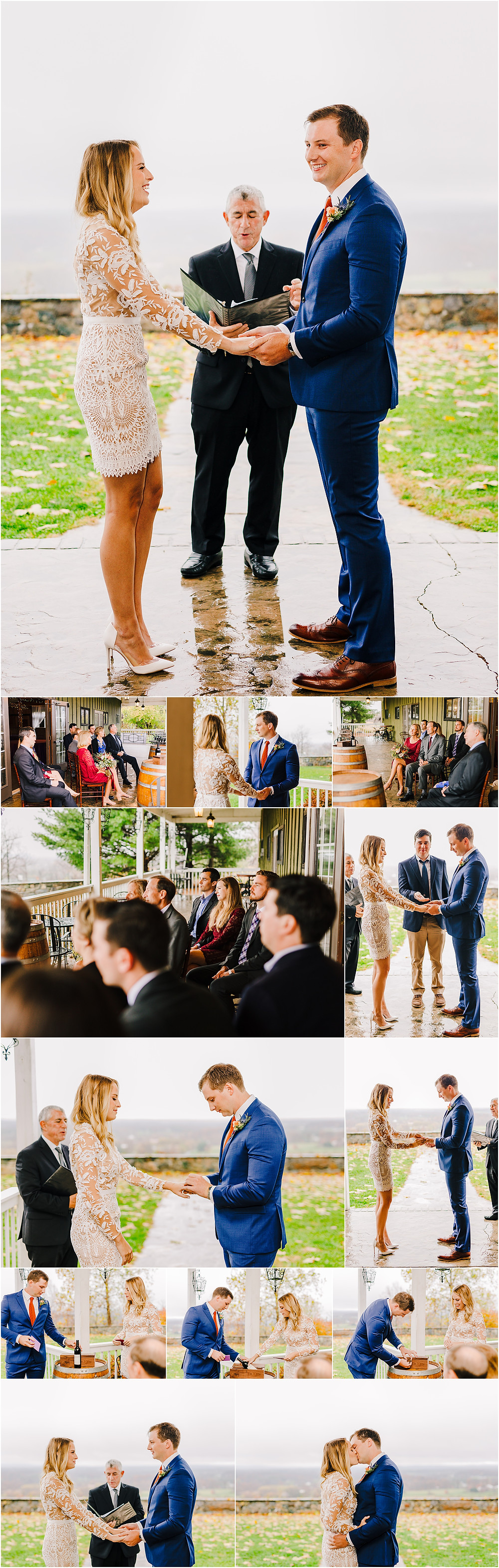 Maryland Elopement Photographer Fall Bluemont Vinyard Elopement Ceremony