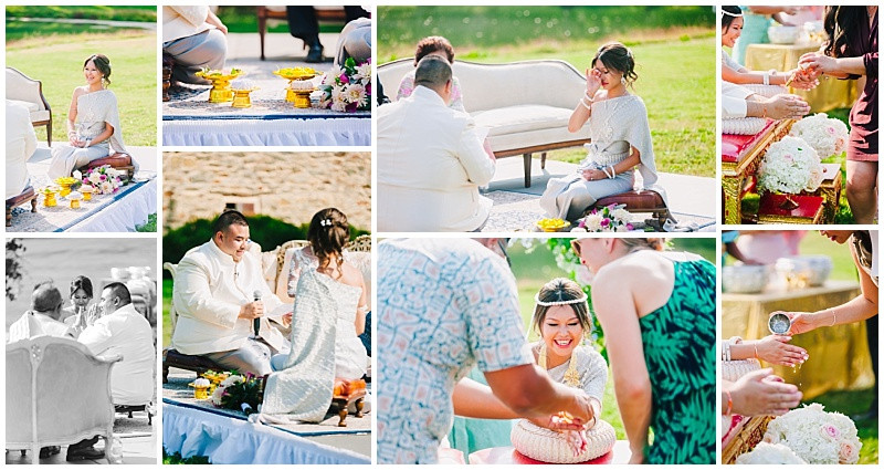 Thai Wedding ceremony moments at Sylvanside Farm by Katherine Elizabeth Photography