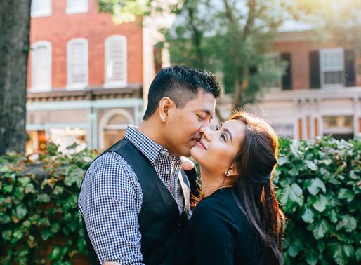 Historic Downtown Frederick Engagement | Jawti + San | Maryland Wedding Photographer