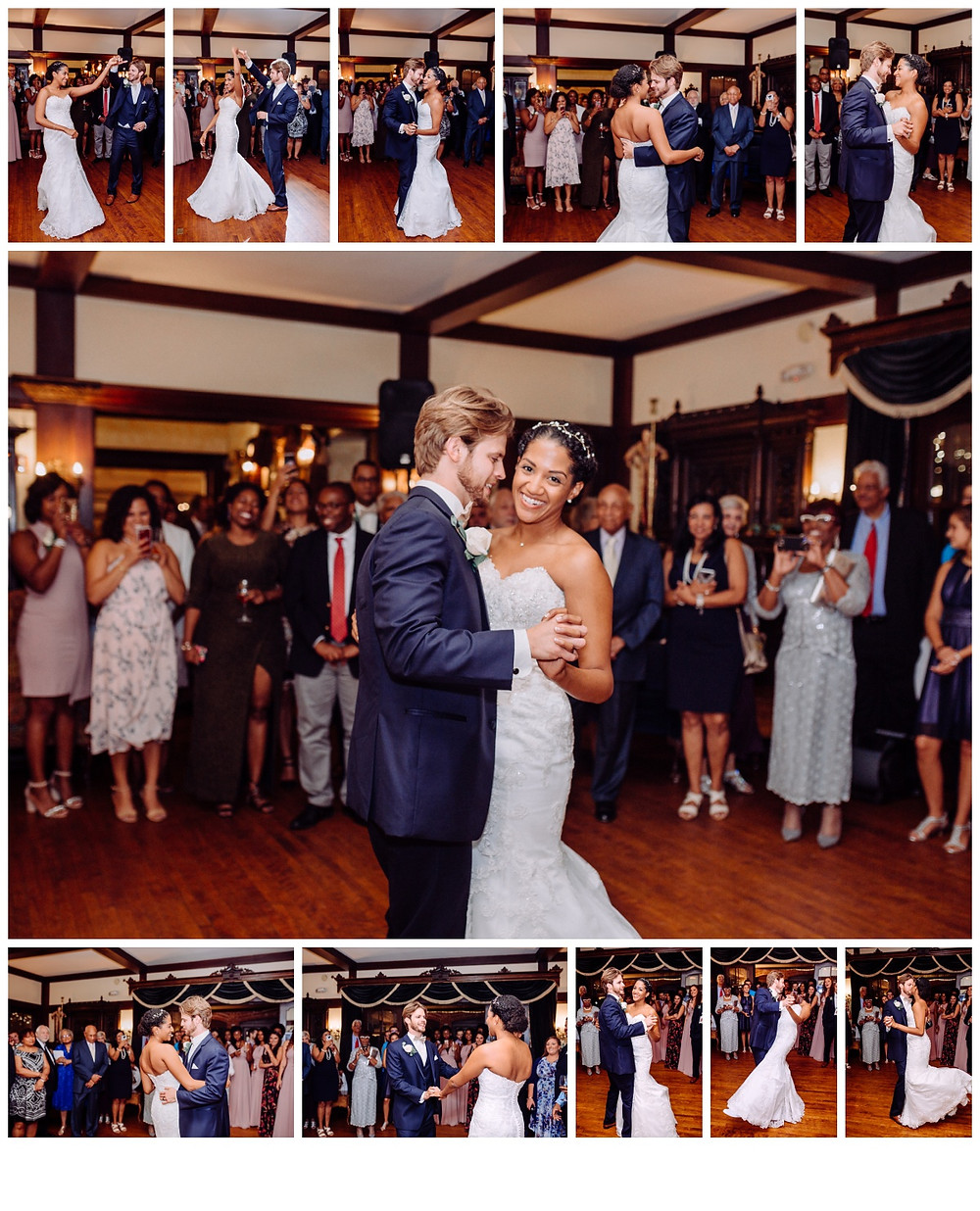First dance as husband and wife at Gramercy Mansion captured by Katherine Elizabeth Photography