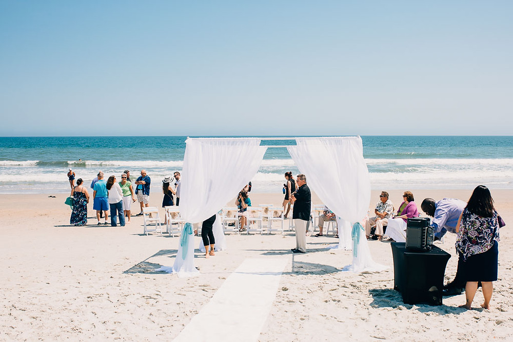 Beach Ceremony Preparation - Maryland Wedding Photographer - Katherine Elizabeth Photography