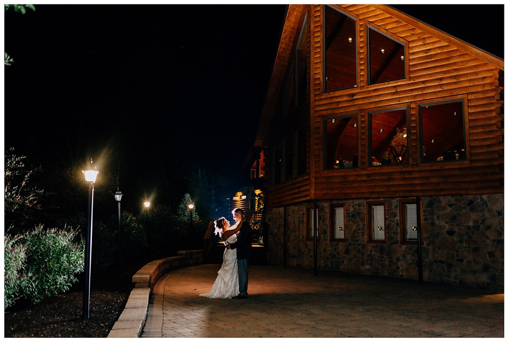 Night Portrait - Liberty Mountain Boulder Ridge Lodge Wedding - Maryland Wedding Photographer - Katherine Elizabeth Photography