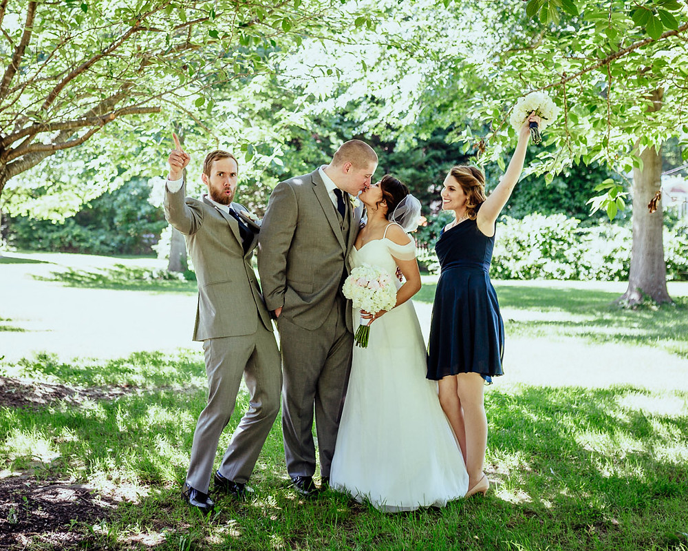 Baltimore Wedding - Bright Bridal Party - Baltimore Wedding Photography