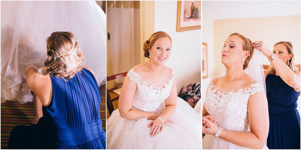 Finishing touches for the Bride Frederick Maryland