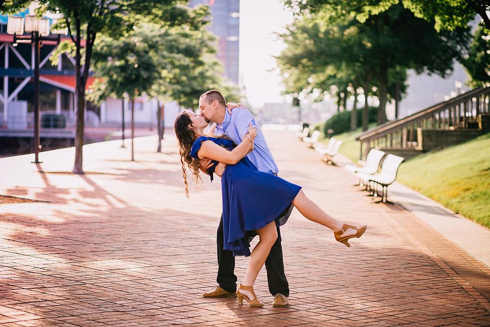 Inner Harbor engagement portraits - Baltimore Maryland Photographer - Katherine Elizabeth Photography