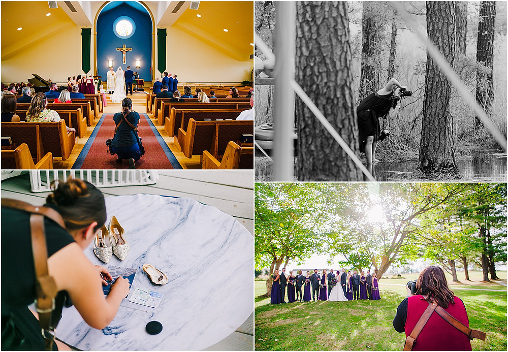Baltimore Wedding Photographer behind the scenes