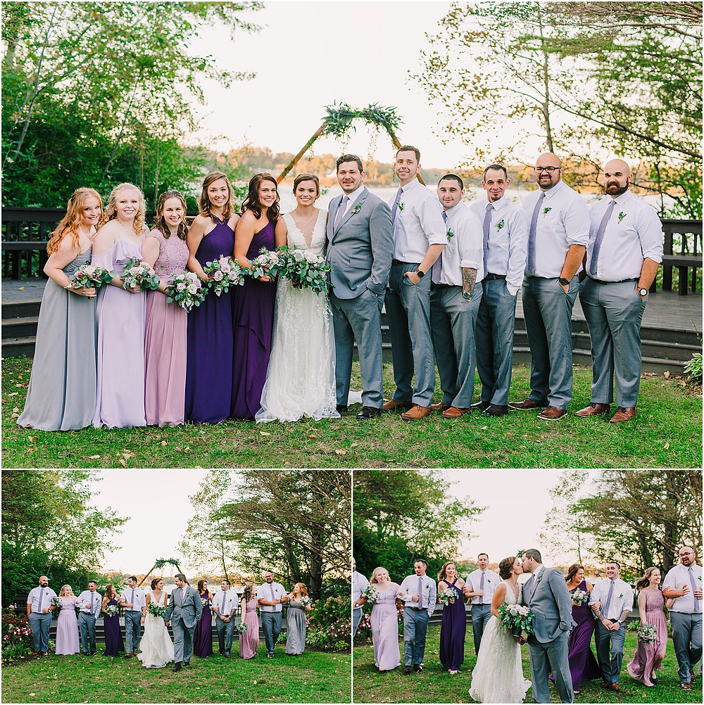 Bridal Party portraits at sunset at London Town and Gardens Annapolis Wedding Photography