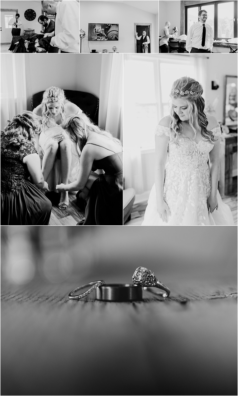 Getting Ready at Rosewood Farms, Maryland Wedding Photographer