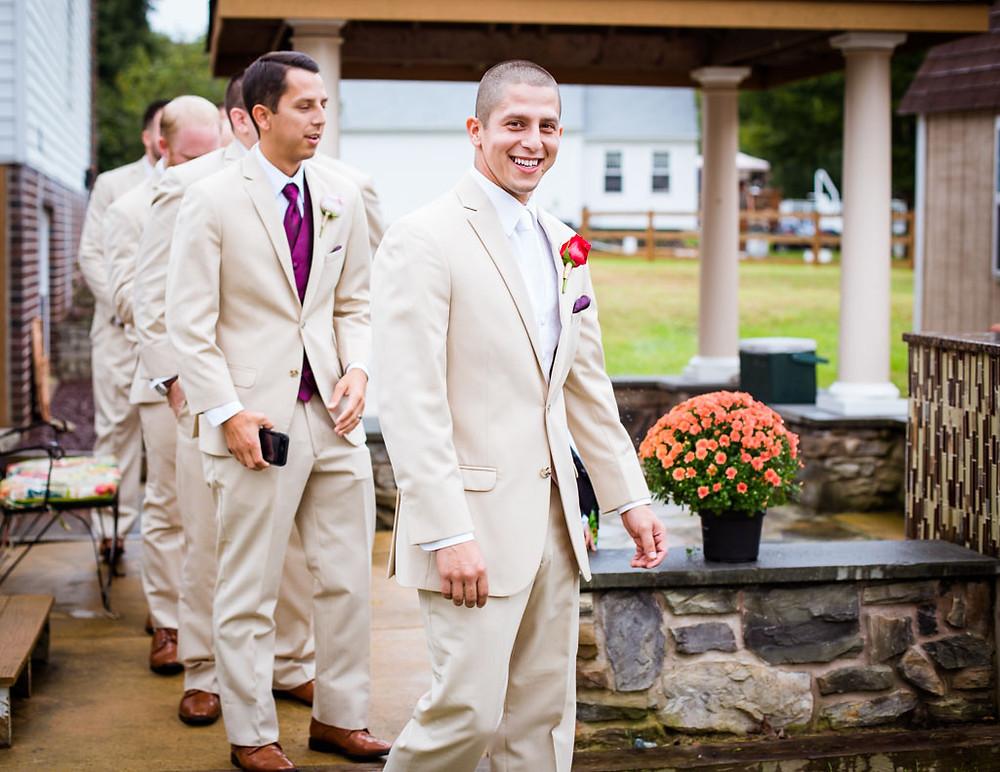 Baltimore wedding day Groom