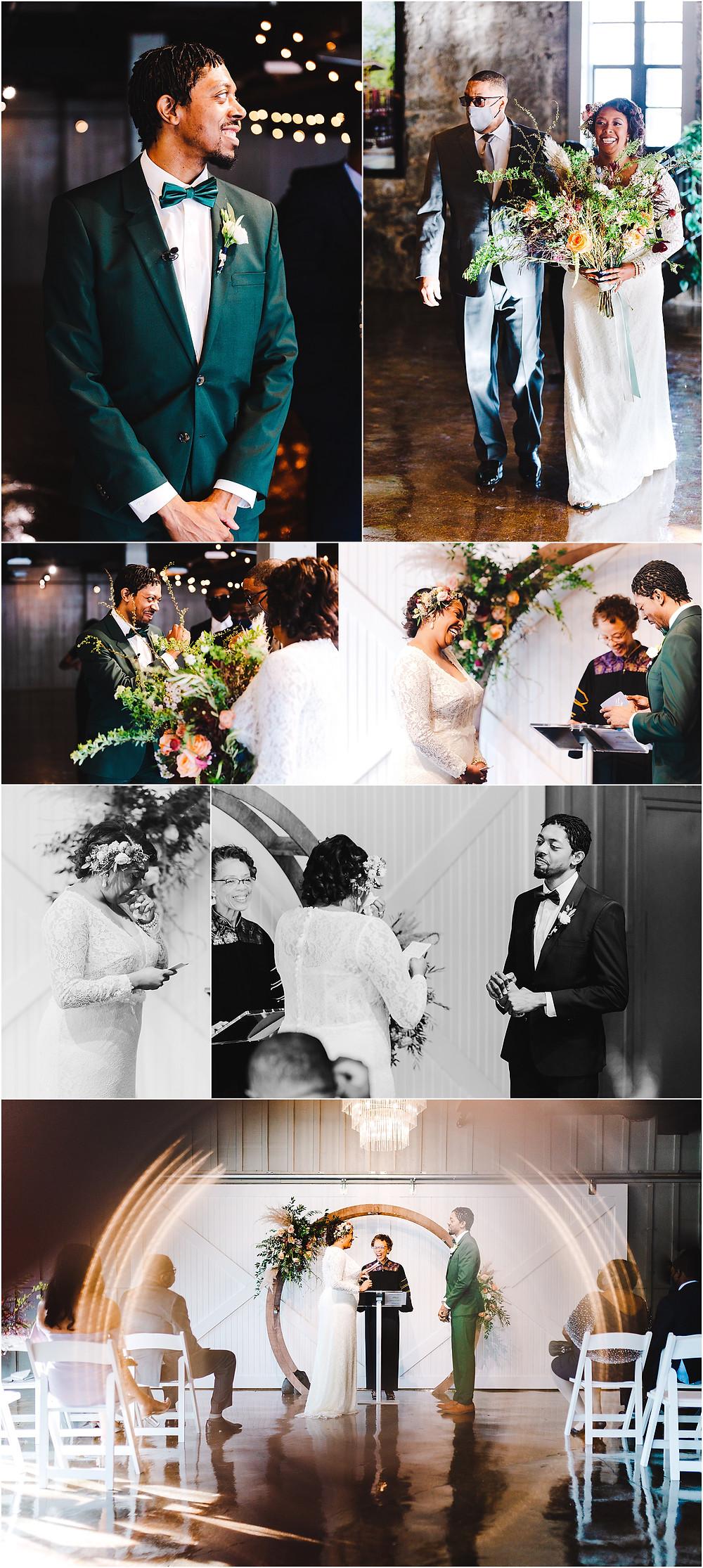 Main Street Ballroom intimate wedding ceremony. Maryland Wedding Photographer
