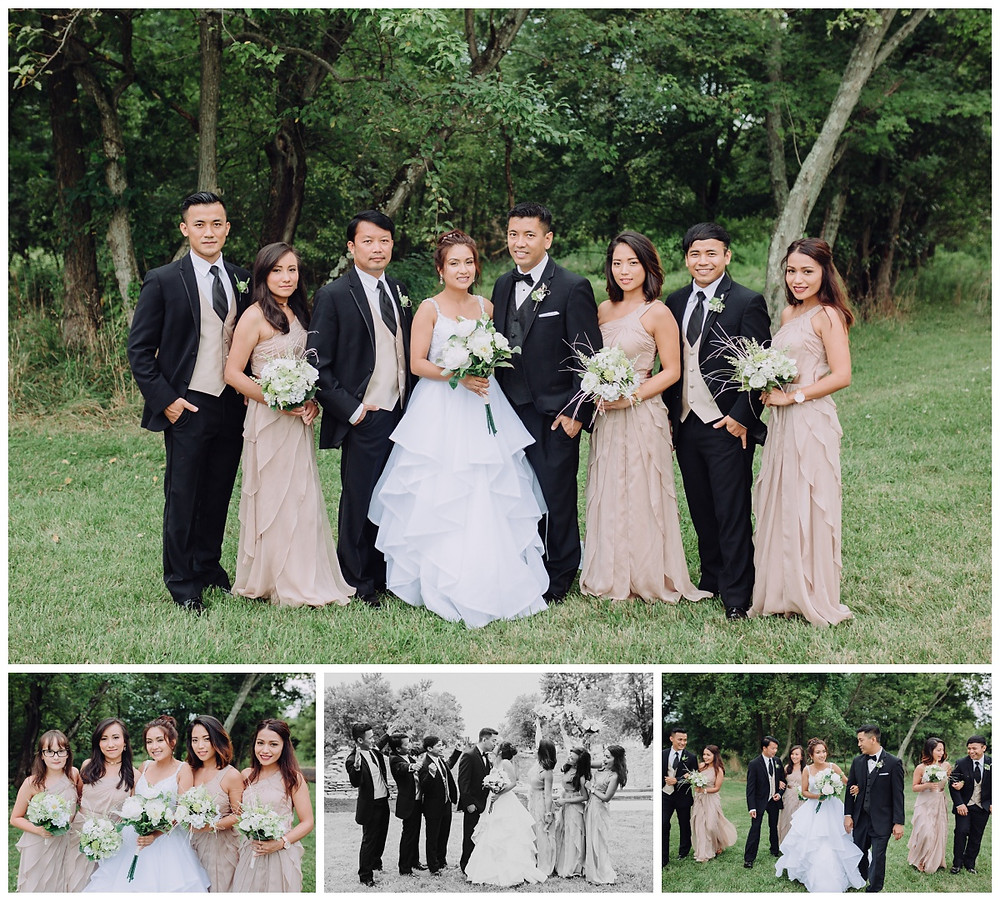 Bridal Party Portraits - Vanish Brewery wedding Leesburg - Frederick Wedding Photographer - Katherine Elizabeth Photography
