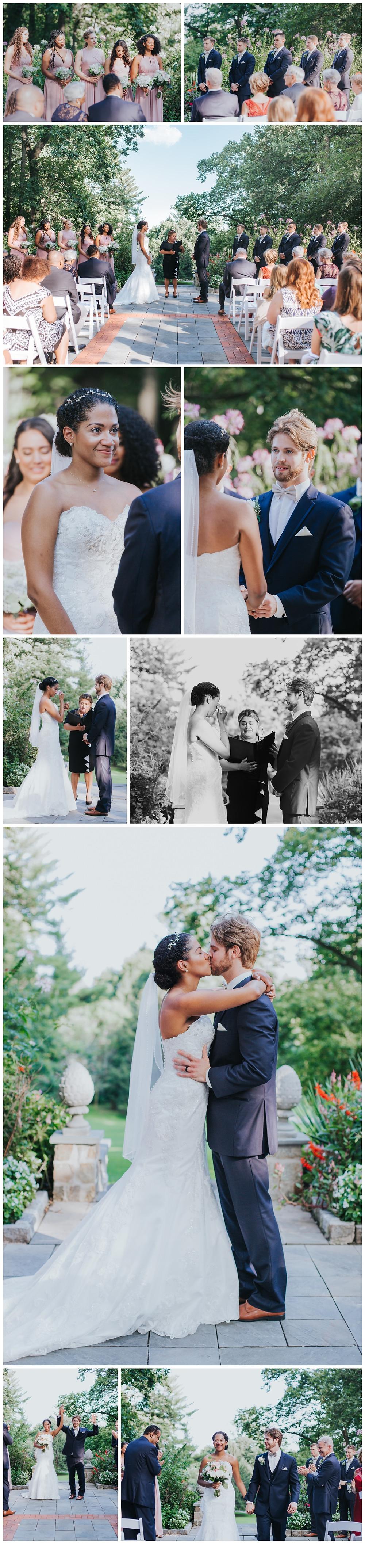Garden wedding ceremony at Gramercy Mansion by Katherine Elizabeth Photography