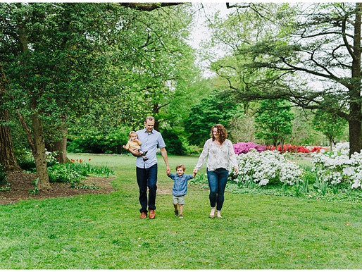 Sherwood Gardens Portraits | The Warfield Family | Baltimore Portrait Photographer
