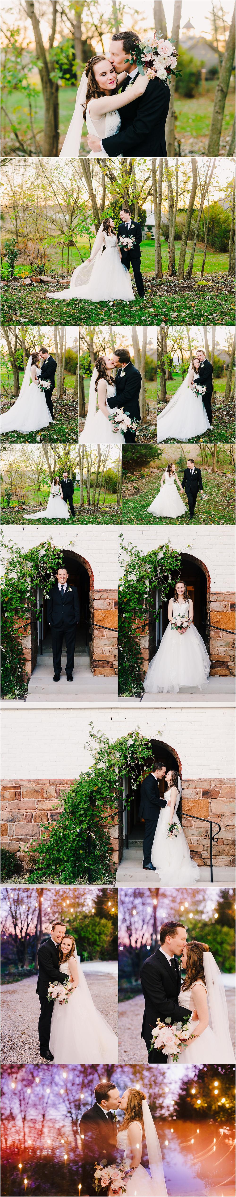 Sunset Wedding Portraits Baltimore Wedding Photography