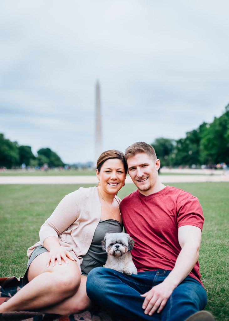 D.C Engagement Portraits with Puppy - D.C Wedding Photography