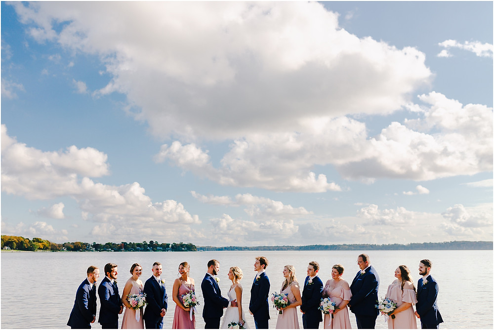 Wedding Party Portraits on the beach at Bohemia Overlook. Maryland Wedding Photographer
