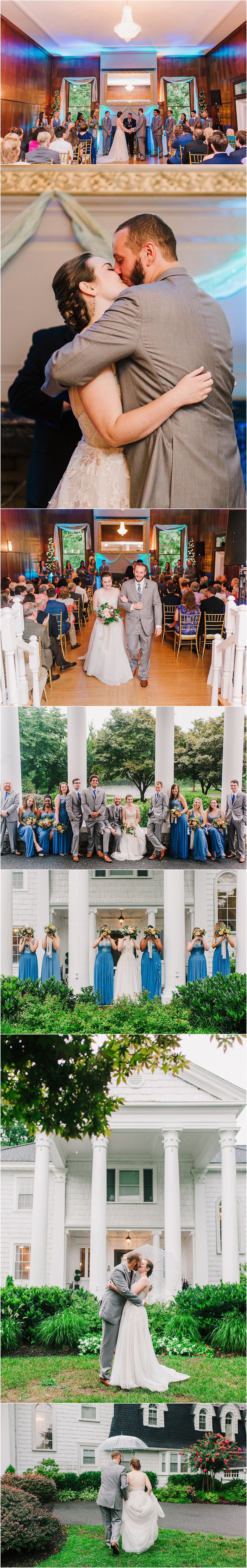 Rainy Day Wedding at Overhills Mansion. Baltimore Wedding Photographer