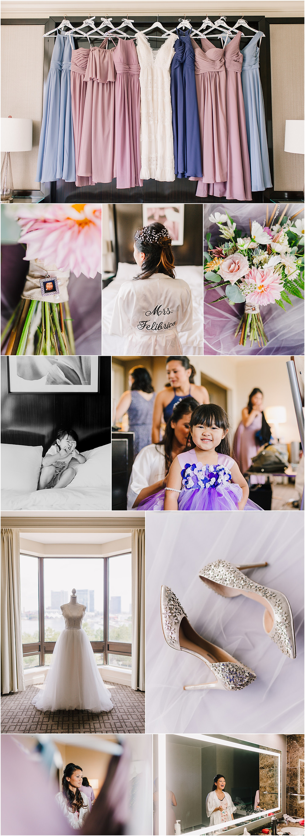 Getting Ready - Royal Sonesta Baltimore Hotel - Baltimore Wedding Photographer