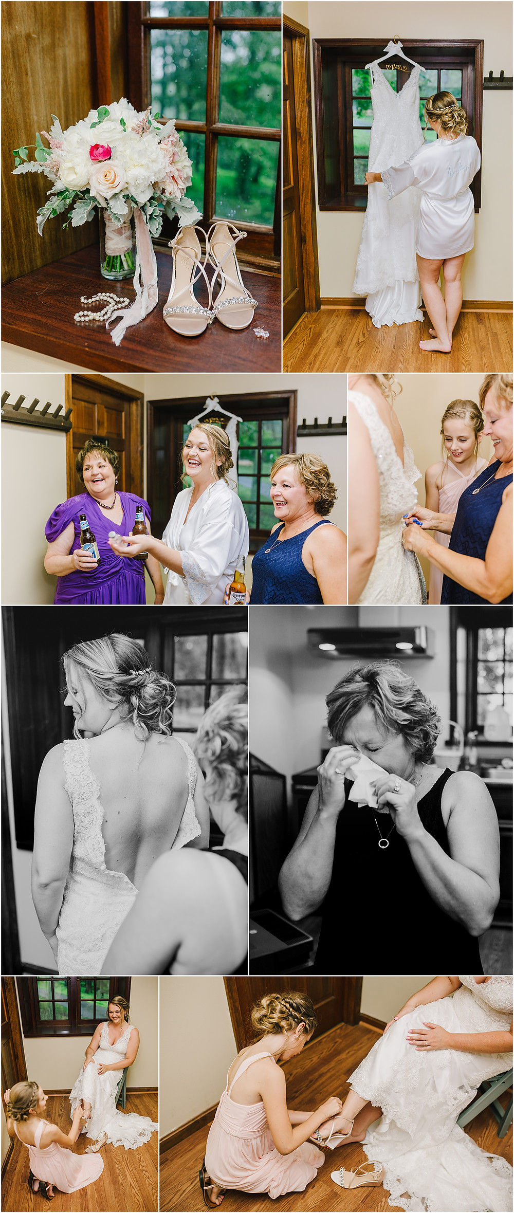 Getting Ready on your wedding day - Gambrill State Park - Frederick Maryland Wedding Photographer