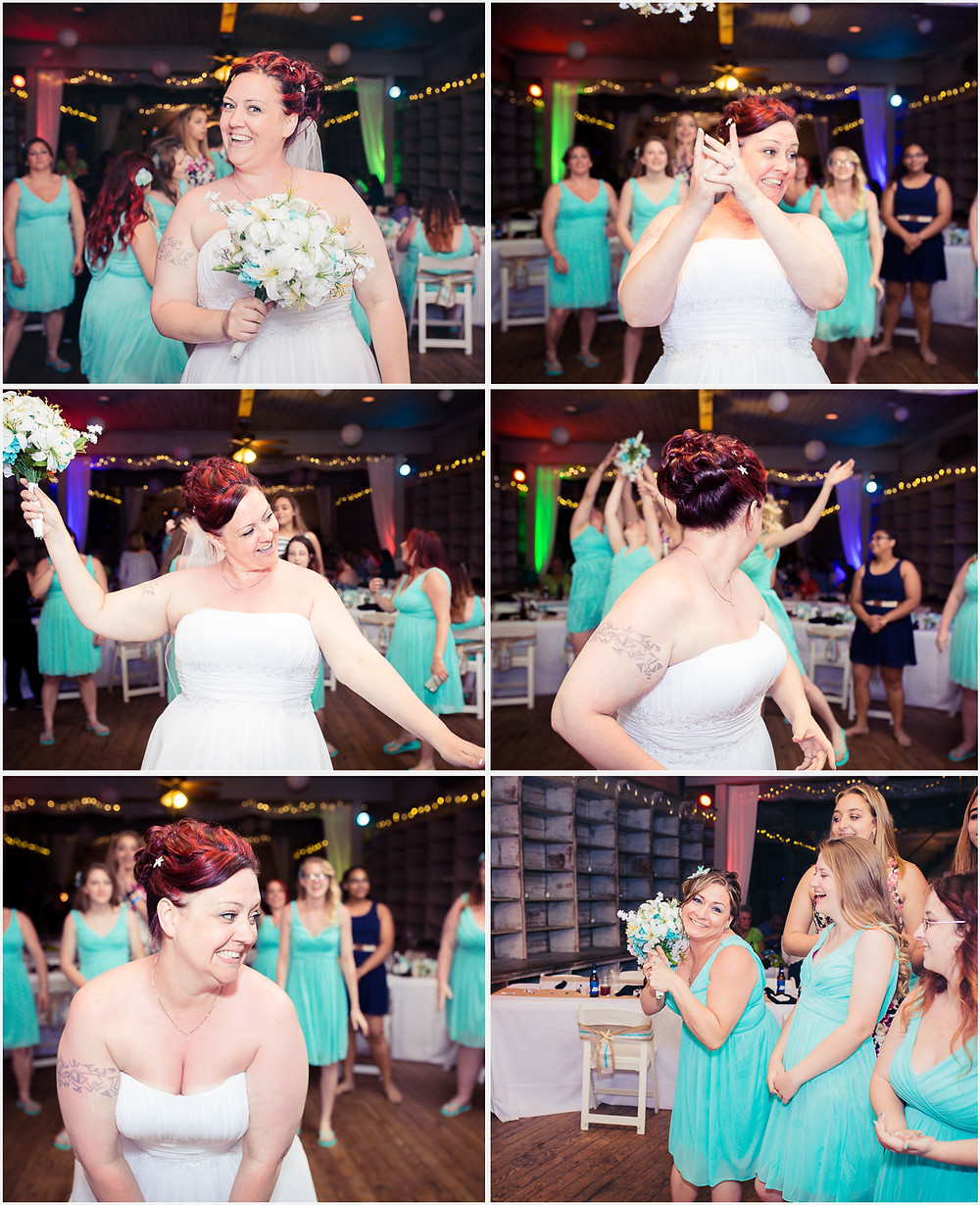 Bouquet Toss- Maryland Wedding Photographer - Katherine Elizabeth Photography