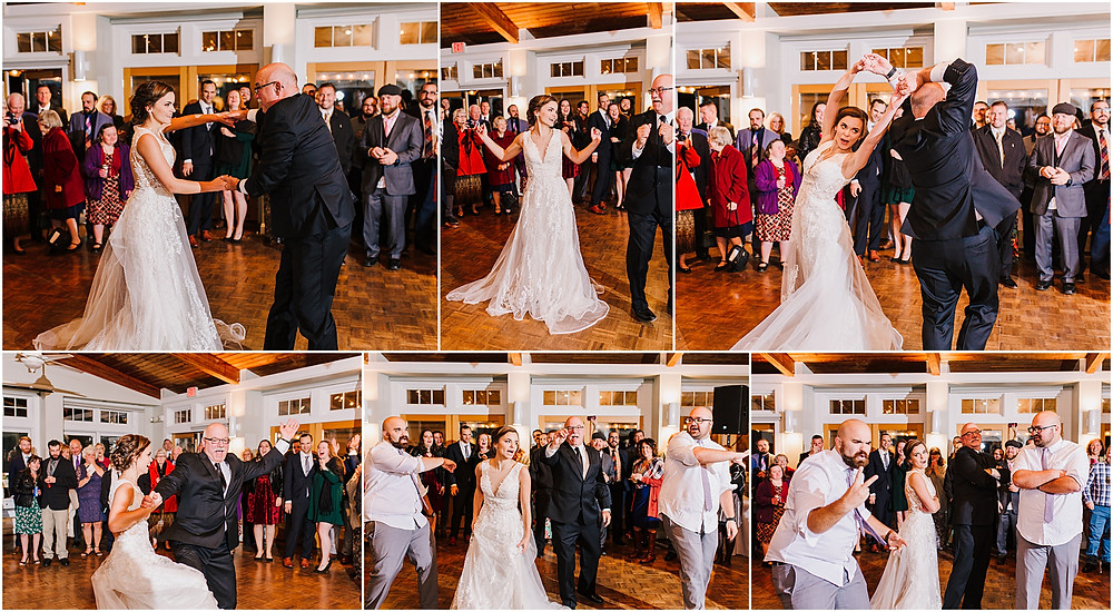 Surprise father-daughter dance at reception in Maryland Wedding Photography