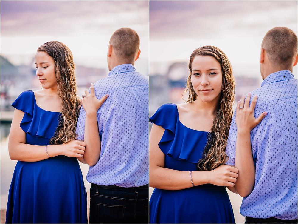 Inner Harbor Sunrise engagement portraits - Baltimore Maryland Wedding Photography