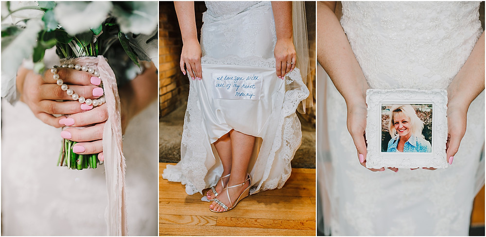 Honoring her mother who passed away with these special mementos on her wedding day. Frederick Maryland Wedding Photographer